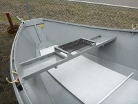 Koffler Aluminum Drift Boat with welded in Oarsman Seat